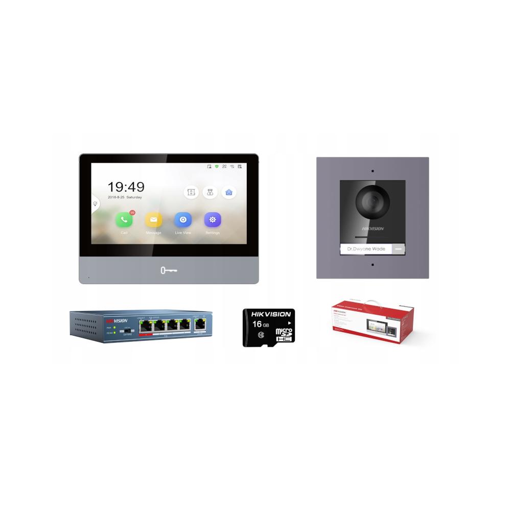 Zestaw: Płyta główna centrali alarmowej VERSA-10 klawiatura VERSA-LED-GR, obudowa OPU-4P