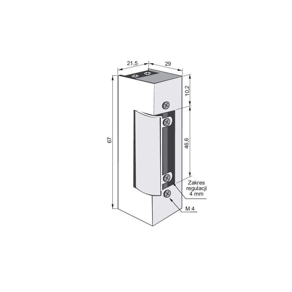 Panel z 12 przyciskami i miejscem na moduł rozmówny, 2-rzędowy