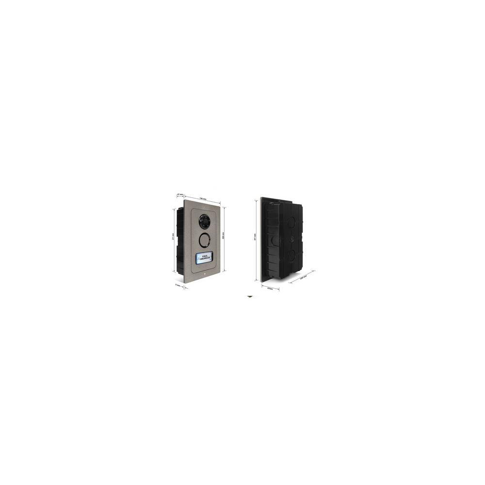 Skrzynka pocztowa podwójna Verona - 2 przyciski, szlifowana stal nierdzewna