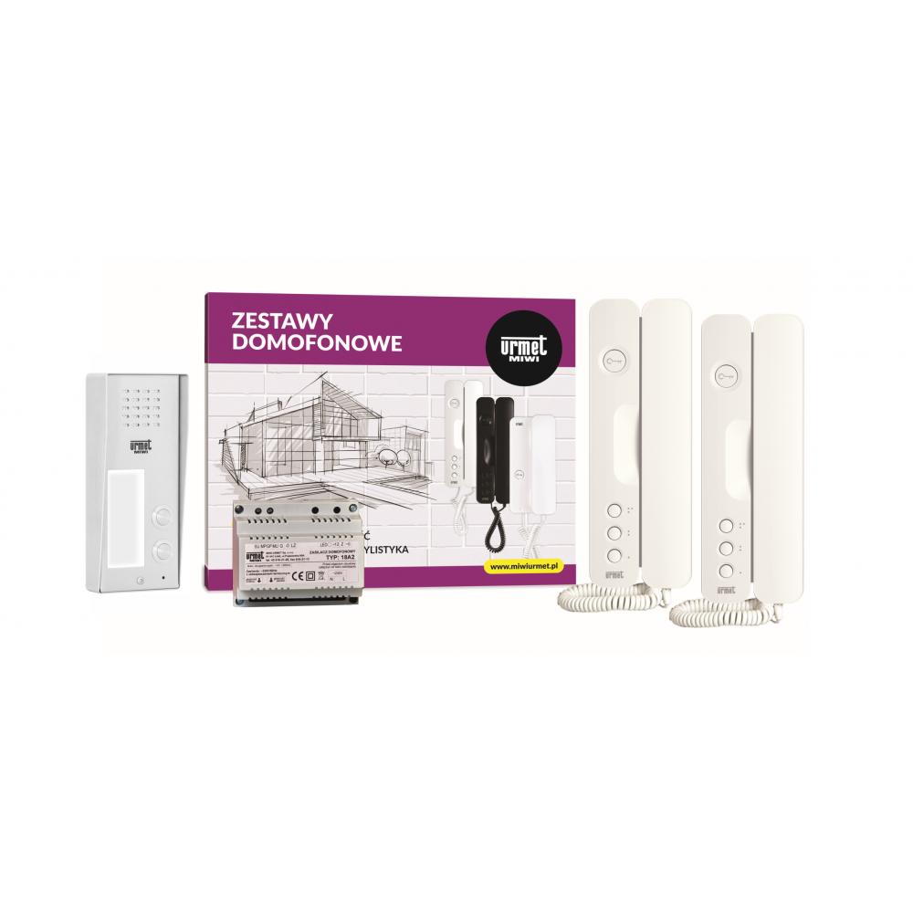 """Panel z kamerą kolor 2-przyciski """"kw-137"""" (zawiera 2 dystrybutory kw-516m)"""
