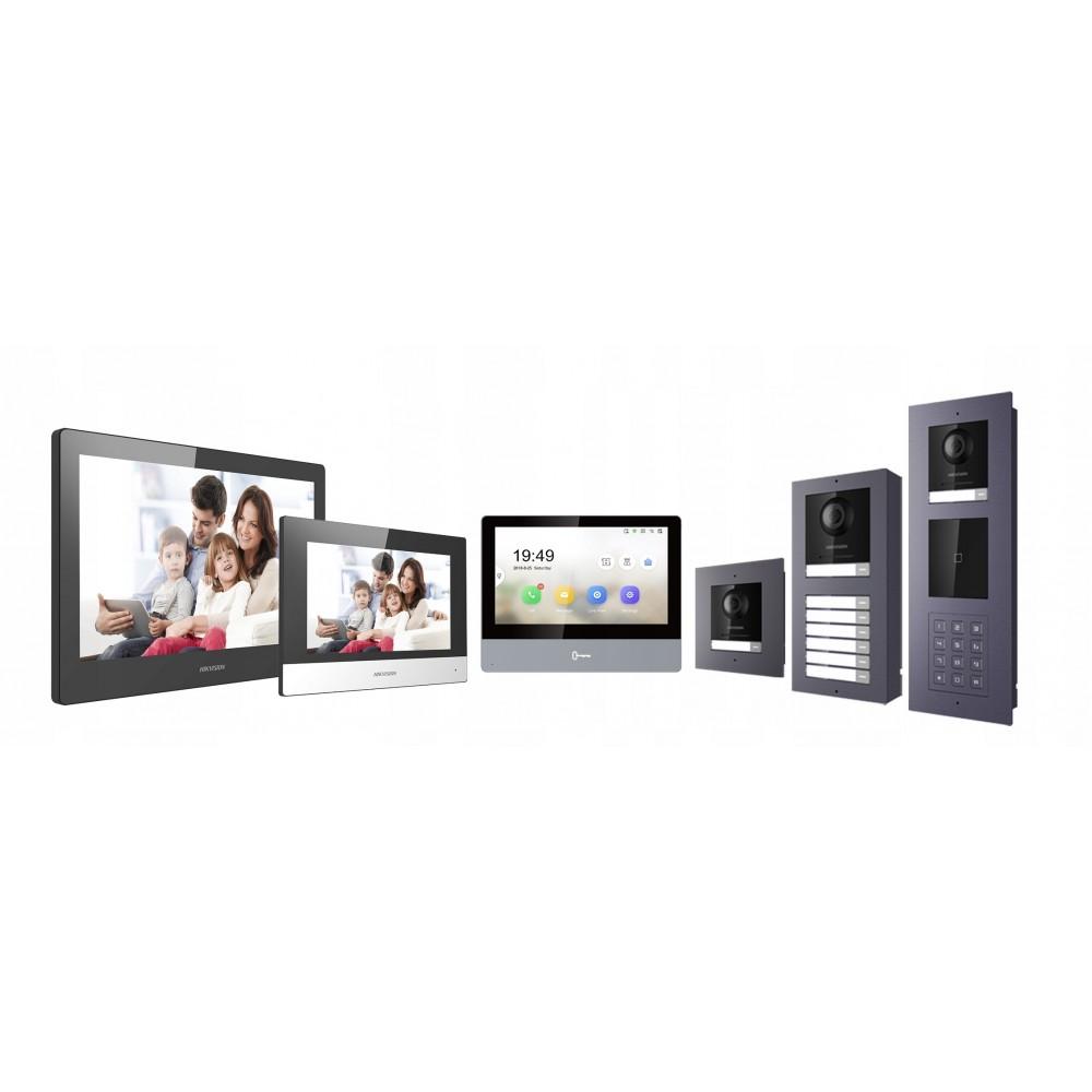 Zestaw: Płyta główna centrali alarmowej VERSA-5 klawiatura VERSA-LED-GR, obudowa OPU-4P