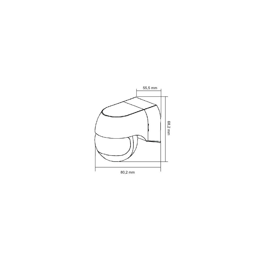 Uchwyt interkomowy do 1702/1 - 7 przyc. funkcyjnych 2 diody led