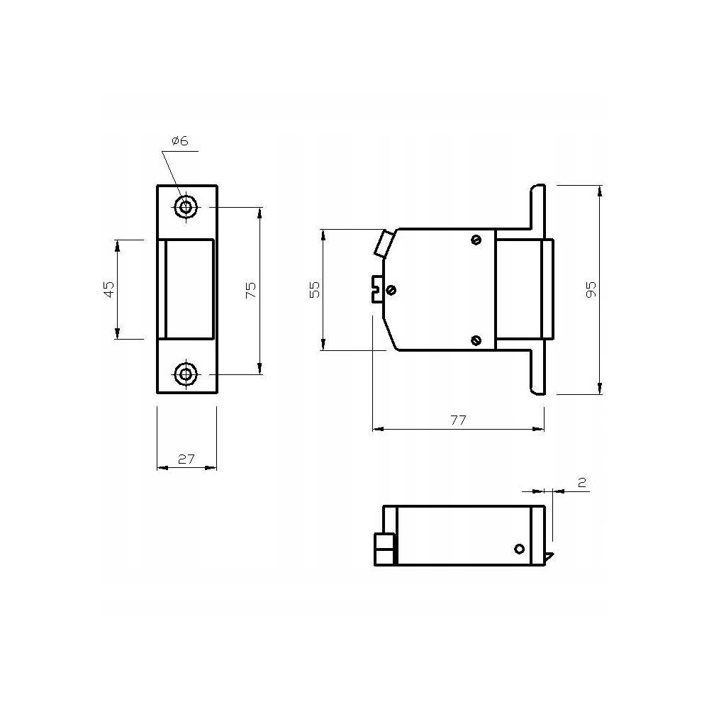 Panel z 18 przyciskami i miejscem na moduł rozmówny, 2-rzędowy